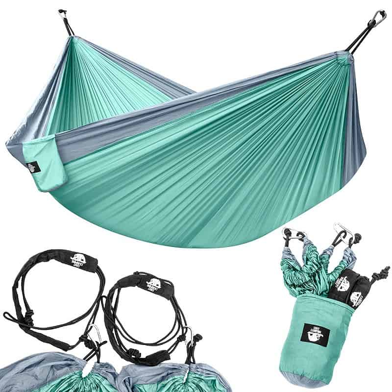 Patio Light Blue /& Dark Blue Travel Backyard Hiking Nobranded Camping Hammock Single Portable Hammocks with 2 Tree Straps,Indoor Outdoor Backpacking Survival /& Travel,for Backpacking Beach
