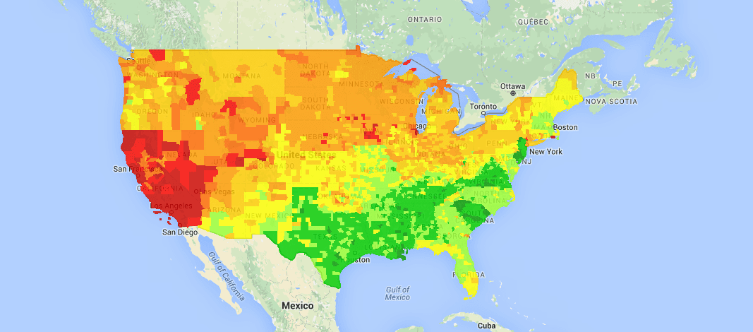 USA National Gas Price Heat Map - Traveling Lifestyle