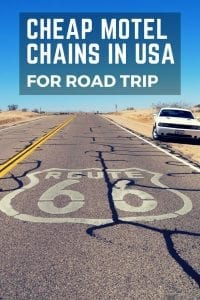 cheap motels - usa road trip