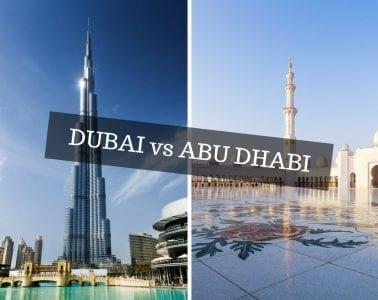 Dubai vs. Abu Dhabi