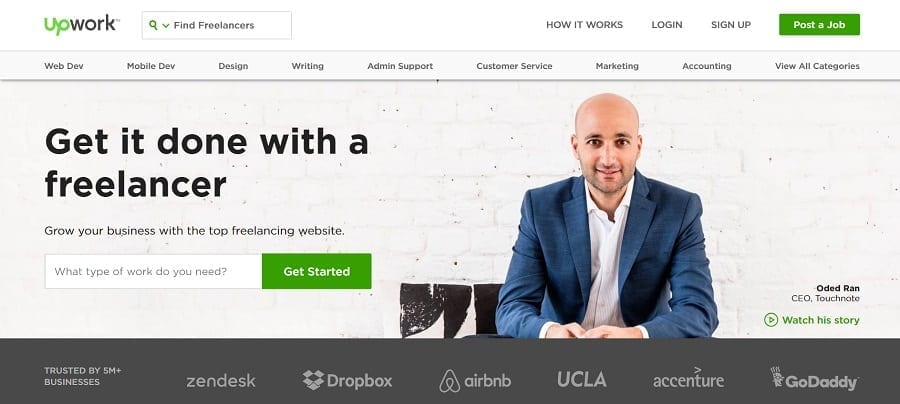 upwork - find digital nomad jobs