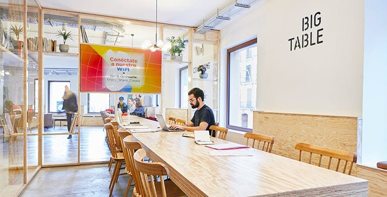 free coworking space in barcelona - imagin cafe