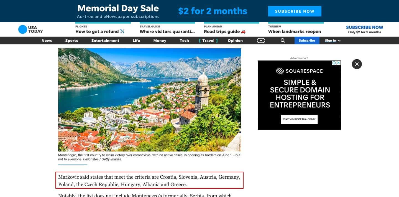 covid travel deals