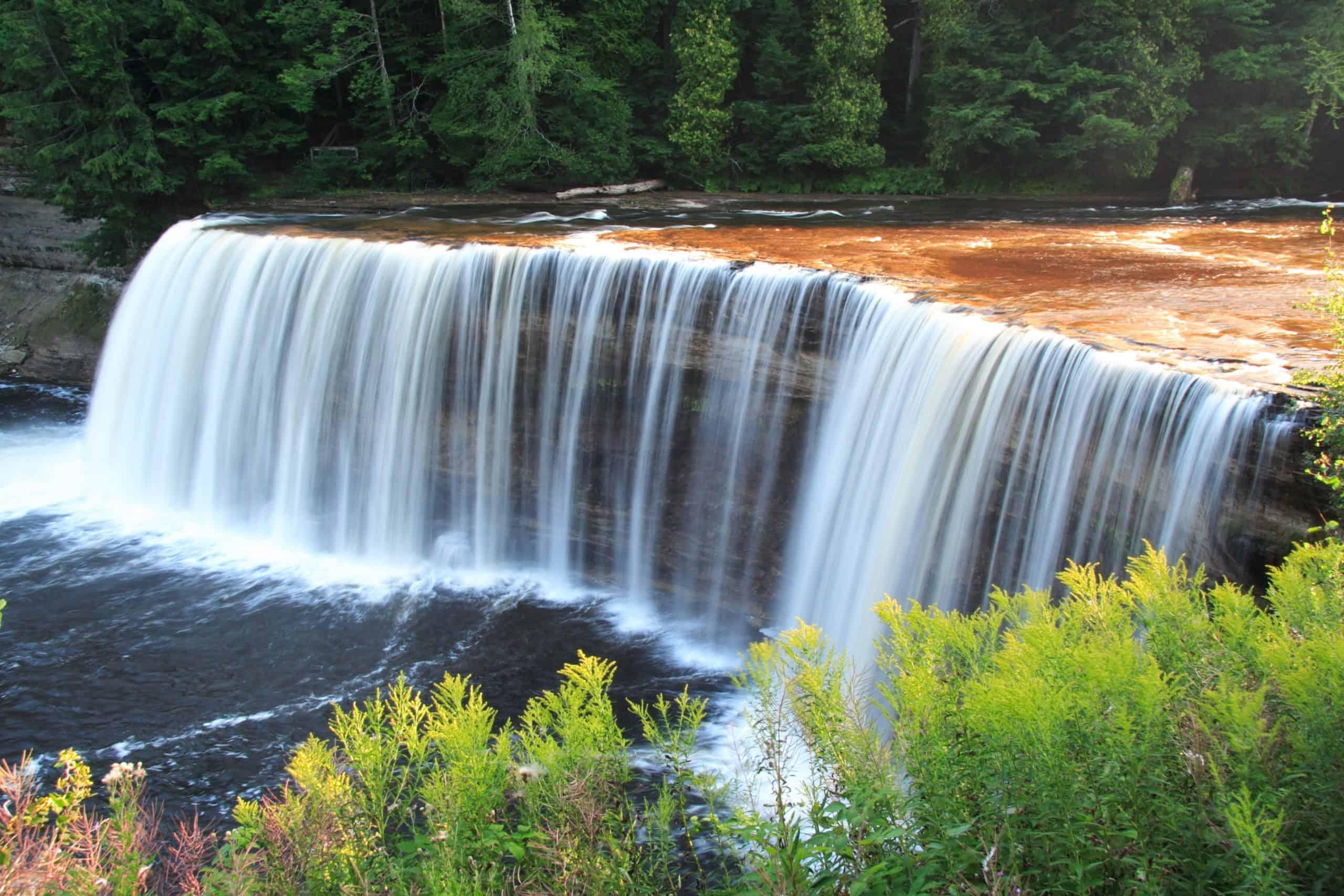 Taquemonon Falls State Park for Camping in Michigan