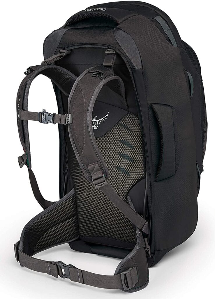 osprey farpoint - best backpack for back pain