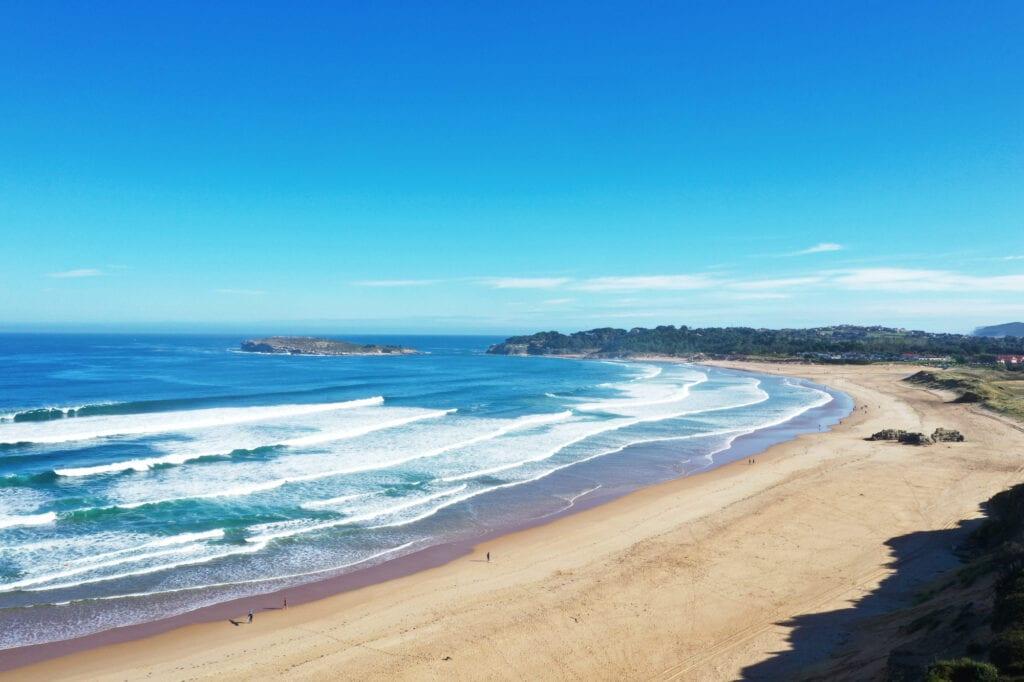 playa de loredo - surfing spain