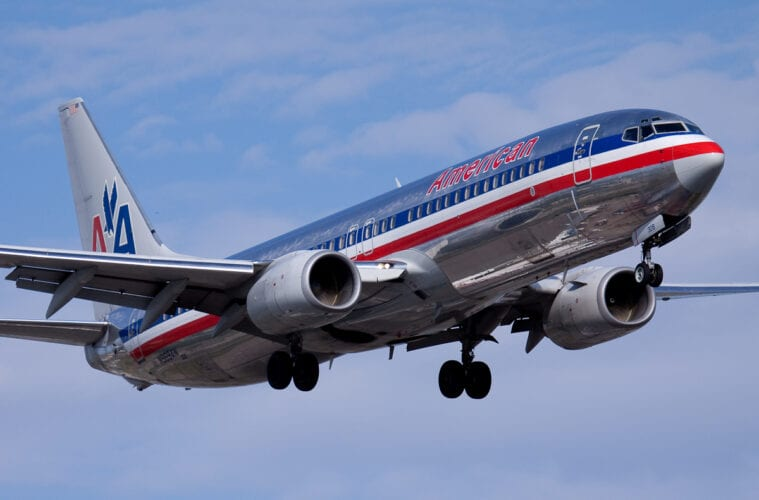 american airlines pre-flight testing in the us
