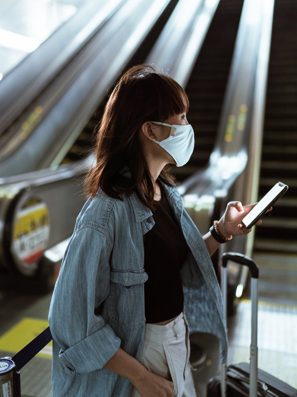 Traveler at the Airport in US during pandemic