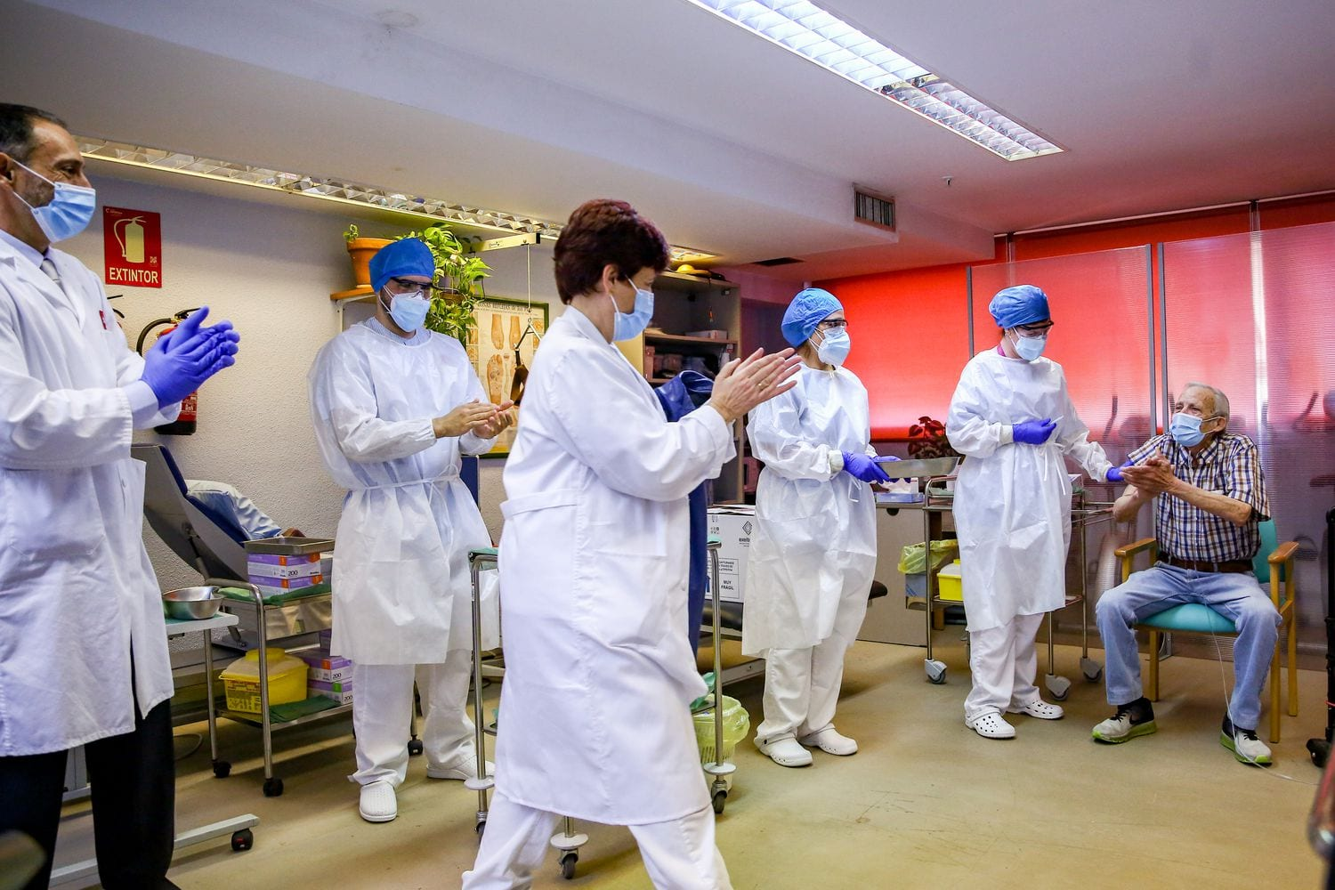 First man to receive the COVID-19 vaccine in Spain