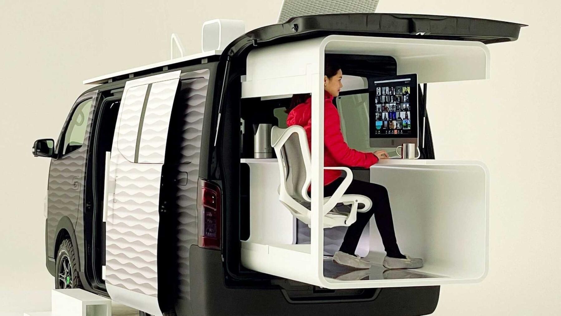 Nissan concept of digital nomad car