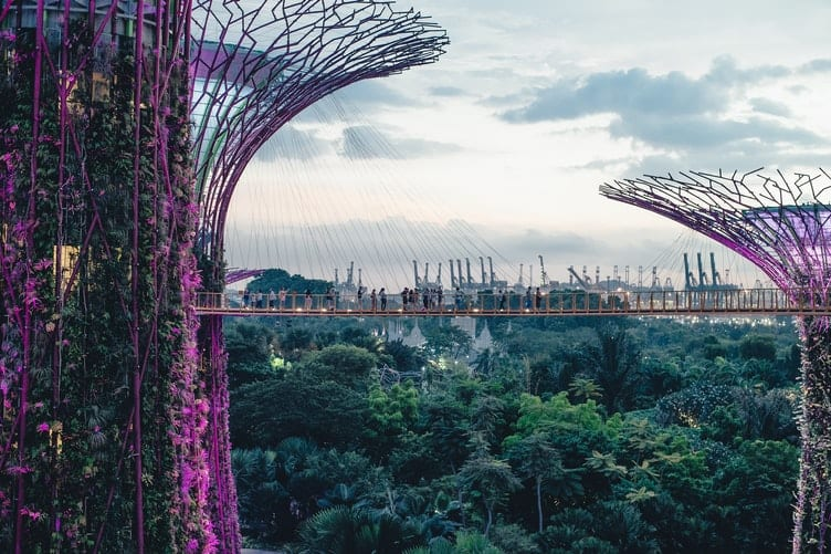 View on the Singapore bridge