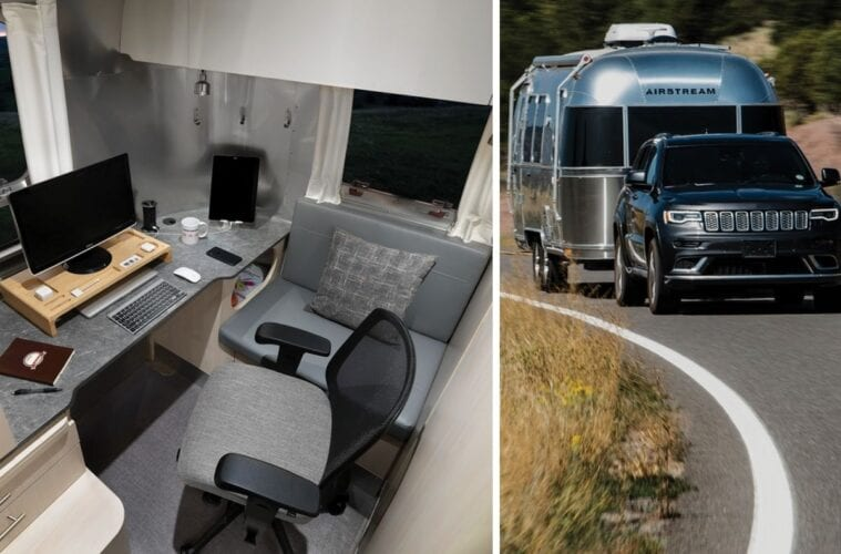 Airstream introduces RV travel trailer for digital nomads with built-in office