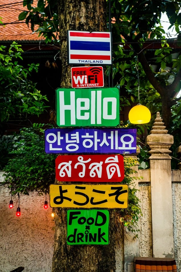 Hello sign in Thailand