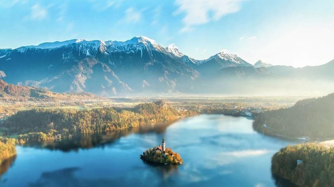 Small island in Slovenia