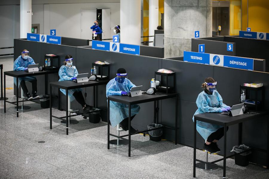 Testing at Pearson airport, Ontario