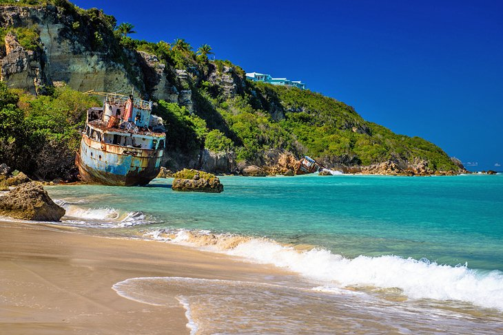 Anguilla, wreck in Sandy Ground Beach