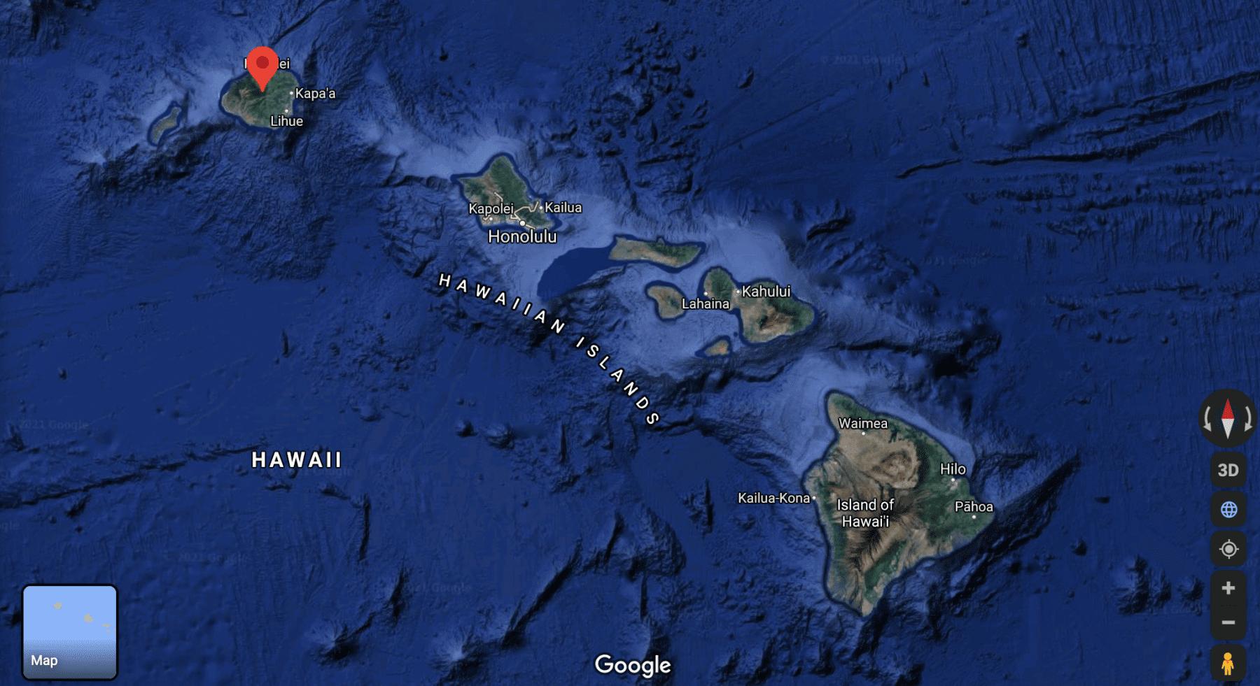 Hawaii islands map
