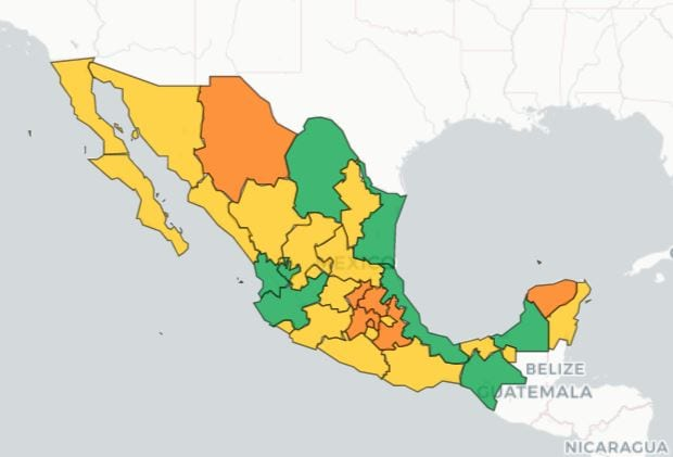Mexico's traffic light system
