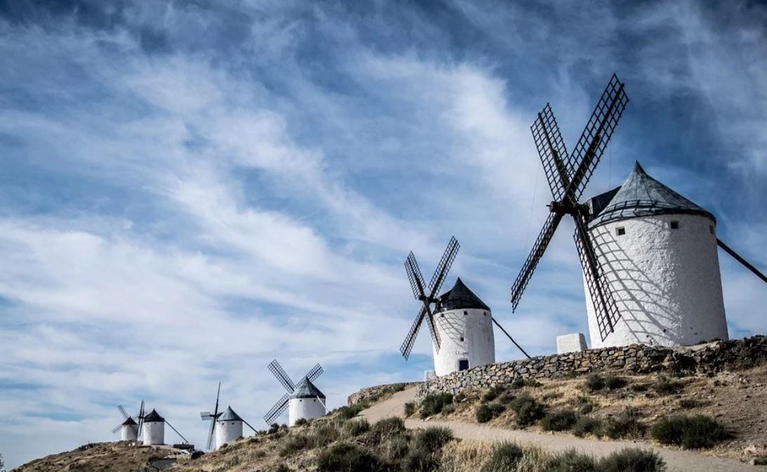 Old windmills, Toledo, Spain