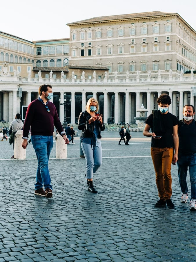 Tourists in St. Peter's Square, Vatican City
