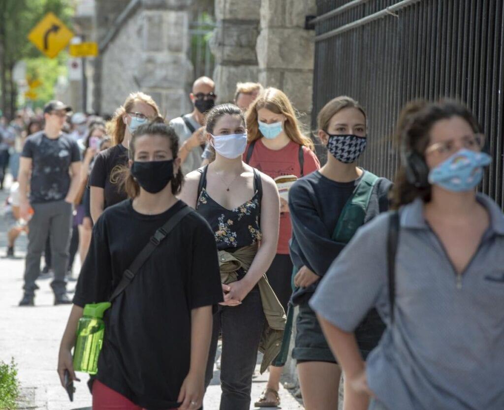 Tourists in Toronto, Canada