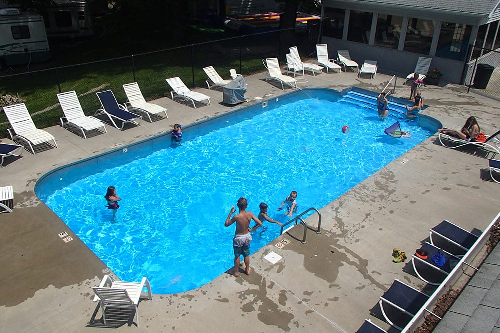 pool area at camp a way
