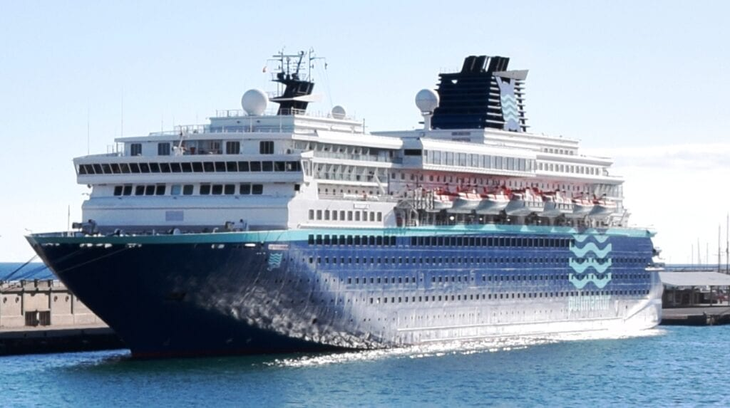 pullmantur cruise ship in harbour