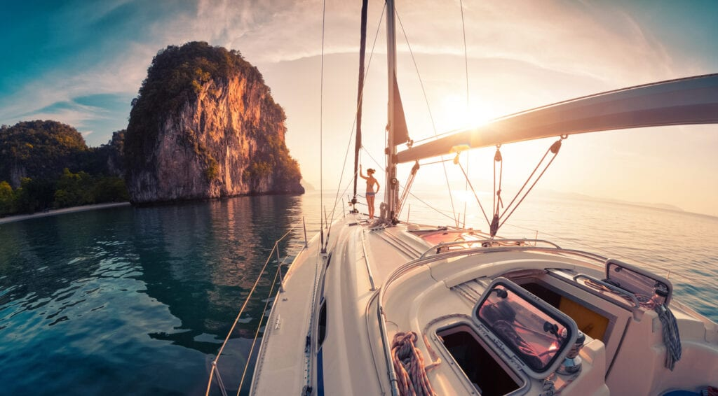 Sailing on a Yacht in Thailand