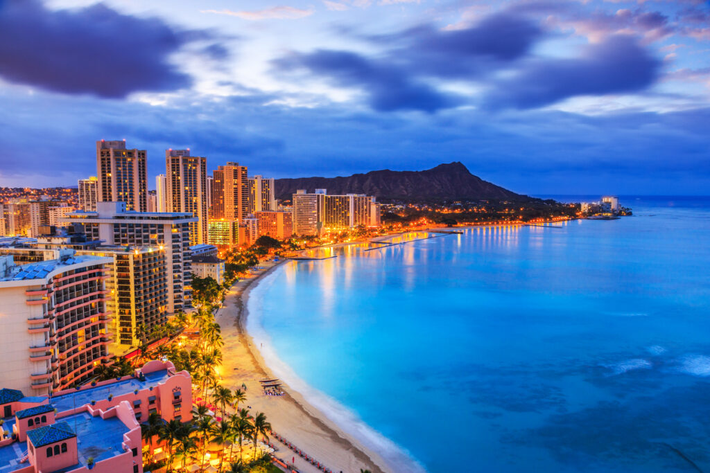 Hawaii Honolulu at Night