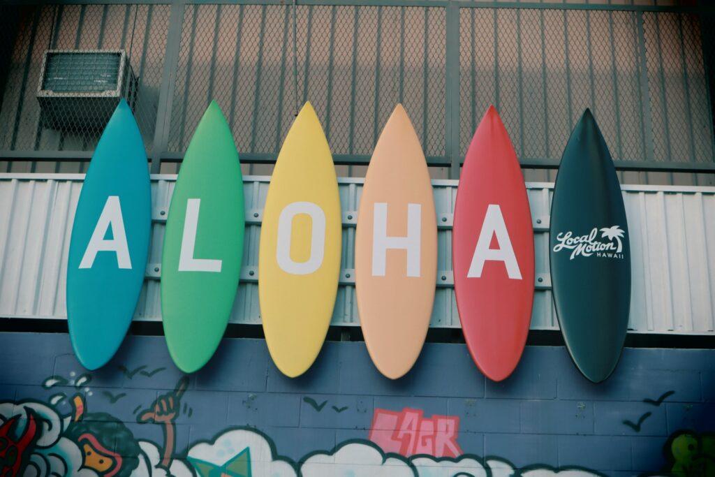 aloha state sign